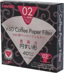 Hario Filtry papierowe Hario do dripa V60-02 40 sztuk