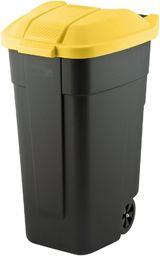 Curver Pojemnik do segregacji odpadów Curver 110L Czarny z żółtą pokrywą Na kółkach