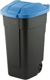Curver Pojemnik do segregacji odpadów Curver 110L Czarny z niebieską pokrywą Na kółkach