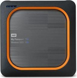 Dysk zewnętrzny Western Digital SSD My Passport Wireless 250 GB Szaro-pomarańczowy (WDBAMJ2500AGY-EESN)