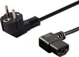 Kabel zasilający Elmak SAVIO Schuko męski kątowy - IEC C13,  1,2m (CL-115)