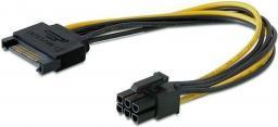 Kabel zasilający Elmak SAVIO AK-20 SATA 15 pin M - PCI Express 6 pin (AK-20)