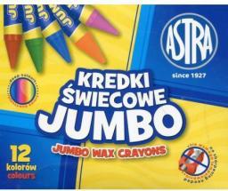 Astra Kredki świecowe Jumbo 12 kolorów