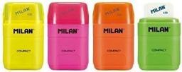 Milan Temperówko-gumka Compakt Fluo