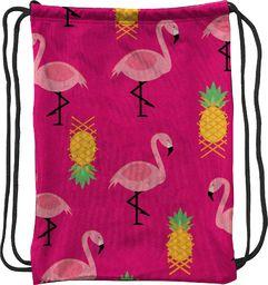 Mesio.pl Worek szkolny plecak WR132 Flamingi różowe MESIO