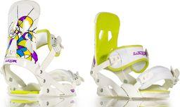 Woox Wiązania Snowboardowe alupro ameb Białe  r. M/L