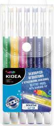 Derform Długopisy brokatowe 6 kolorów KIDEA