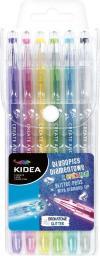 Derform Długopisy diamentowe z brokatem 6 kolorów KIDEA