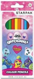 Starpak Kredki ołówkowe 12 kolorów Hatchimals (405414)