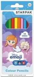 Starpak Kredki ołówkowe 12 kolorów Emoji Frozen (397688)