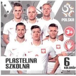 Astra Plastelina 6 kolorów PZPN ASTRA