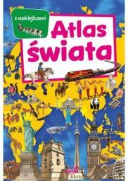 Atlas świata z naklejkami