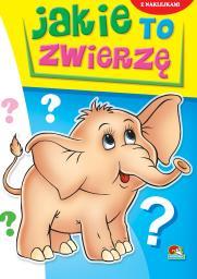 Kolorowanka. Jakie to zwierzę? - Słoń