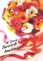 Artnuvo Karnet B6 Kwiaty imieniny  FF1287