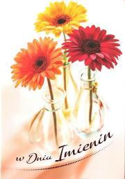 Artnuvo Karnet B6 Kwiaty imieniny  FF1288