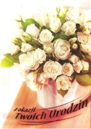 Artnuvo Karnet B6 Kwiaty W Dniu Urodzin FF1206