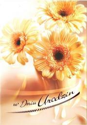 Artnuvo Karnet B6 Kwiaty W Dniu Urodzin FF1208