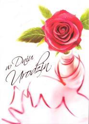 Artnuvo Karnet B6 Kwiaty W Dniu Urodzin FF1207