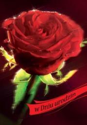Artnuvo Karnet B6 Kwiaty W Dniu urodzin FF1217