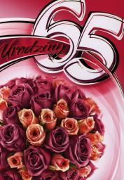 Artnuvo Karnet 65 Urodziny B6 cyfry dla dorosłych