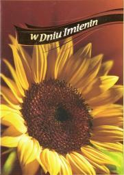 Artnuvo Karnet B6 Kwiaty W Dniu Imienin FF1221