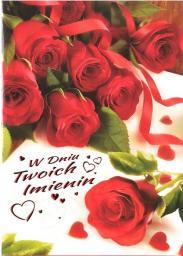 Artnuvo Karnet B6 Kwiaty W Dniu Twoich Imienin FF1277