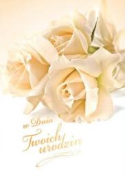 Artnuvo Karnet B6 Kwiaty W Dniu Urodzin FF1246
