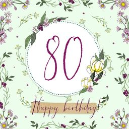 Clear Creation Karnet Swarovski kwadrat z okazji 80 urodzin (CL2280)