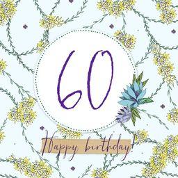 Clear Creation Karnet Swarovski kwadrat Urodziny 60