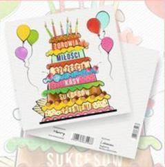 HENRY Karnet Urodziny Tort 15x15