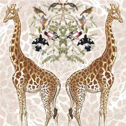 Museums & Galleries Karnet kwadrat Giraffe z kopertą