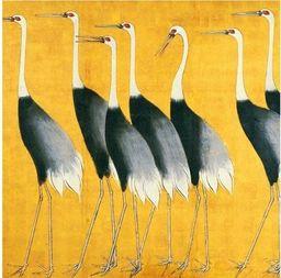 Museums & Galleries Karnet kwadrat Cranes z kopertą