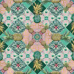Museums & Galleries Karnet kwadrat Pineapple Tile z kopertą