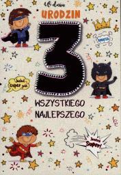 PASSION CARDS Karnet 3 urodziny chłopca PR-021