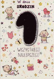 PASSION CARDS Karnet Roczek dla dziewczynki