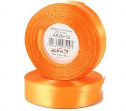 Aliga Wstążka AX25-03 32m satynowa pomarańczowa