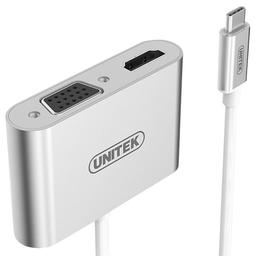Kabel Unitek HDMI D-Sub (VGA), Srebrny (Y-V100)