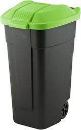 Curver Pojemnik do segregacji odpadów Curver 110L Czarny z zieloną pokrywą Na kółkach