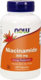 NOW Foods Niacinamide 500mg 100 kapsułek