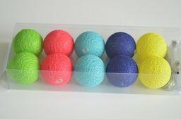Lampki choinkowe KW Office Lampki Lampiony Cotton Balls Mix 5 Kolorów W Pudełku 10 Szt.