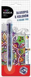 Derform Długopis 6 kolorów KIDEA