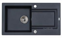 Alveus Zlewozmywak FALCON czarny z syfon POP-UP (1413091)
