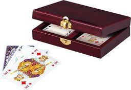 Piatnik Karty lux w pudełku drewnianym