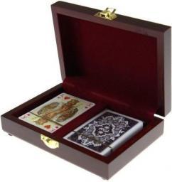 Piatnik Karty lux w pudełku drewnianym (289841)