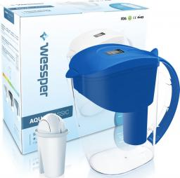 Dzbanek filtrujący Wessper niebieski dzbanek filtrujący AquaClassic 3,5l + filtr classic