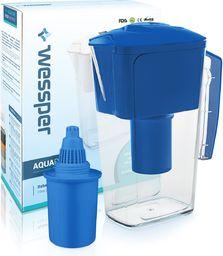 Dzbanek filtrujący Wessper niebieski dzbanek filtrujący AquaPro Alkaline 2,5l z filtrem alkalicznym