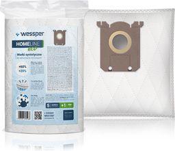 Worek do odkurzacza Wessper do Philips, AEG, Electrolux, S-Bag - syntetyczne 5 sztuk + filtr
