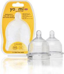 Yoomi smoczek do butelki [Super Slow] bardzo wolny przepływ 0m+ 2 szt./op