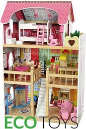 Ecotoys Domek dla lalek drewniany Rezydencja malinowa (ZA-4109)