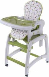 Ecotoys Krzesełko do Karmienia 2w1 ze Stoliczkiem Zielony